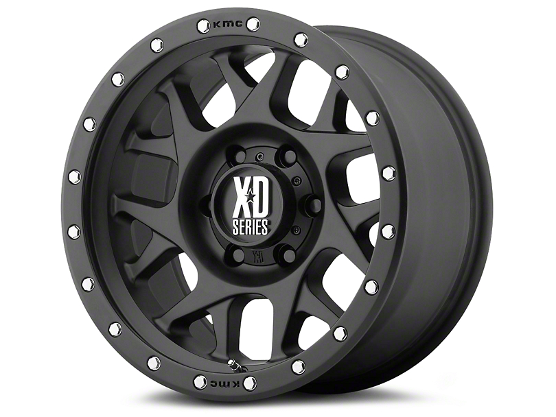 XD Bully Satin Black 6-Lug Wheel; 17x8.5; 0mm Offset (07-20 Sierra 1500)