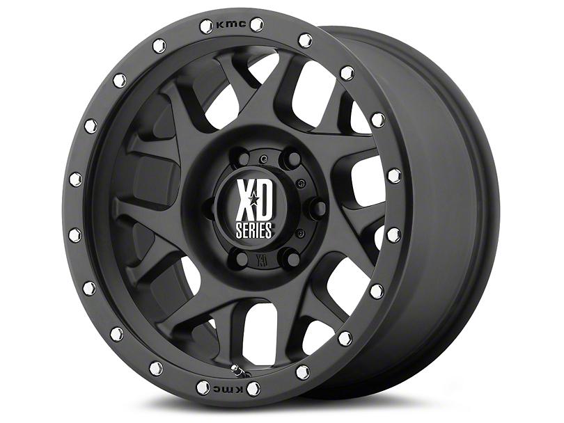 XD Bully Satin Black 6-Lug Wheel - 17x9; -12mm Offset (07-20 Sierra 1500)
