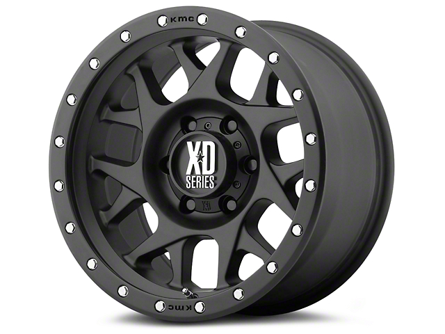 XD Bully Satin Black 6-Lug Wheel; 17x9; -12mm Offset (07-20 Sierra 1500)