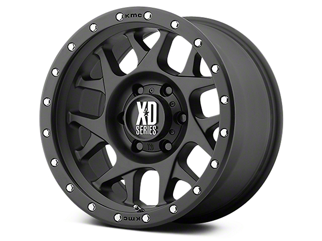 XD Bully Satin Black 6-Lug Wheel - 18x9 (07-19 Sierra 1500)