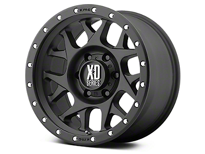 XD Bully Satin Black 6-Lug Wheel - 18x9 (07-18 Sierra 1500)