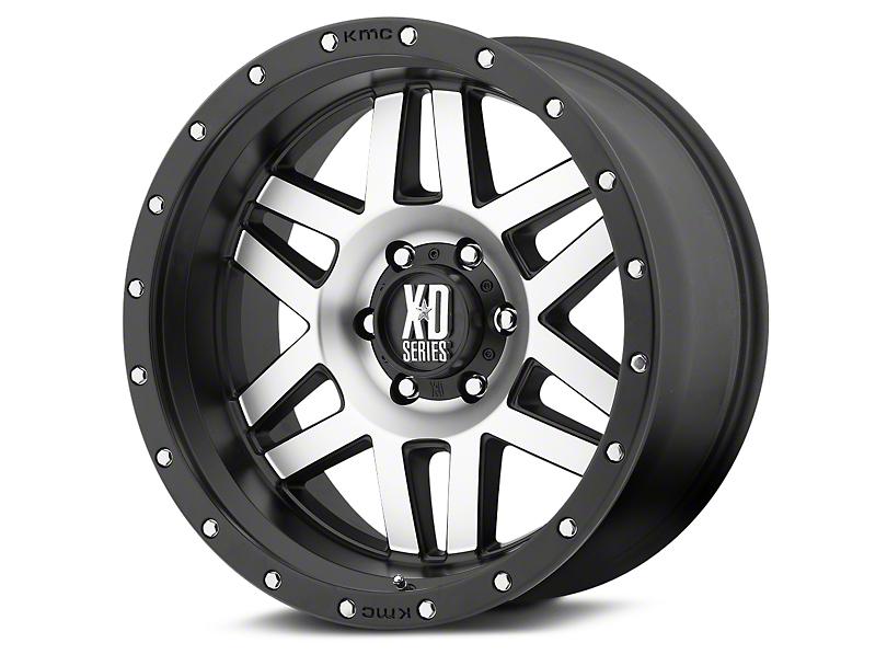 XD Machete Black Machined 6-Lug Wheel - 20x10; -24mm Offset (07-20 Sierra 1500)