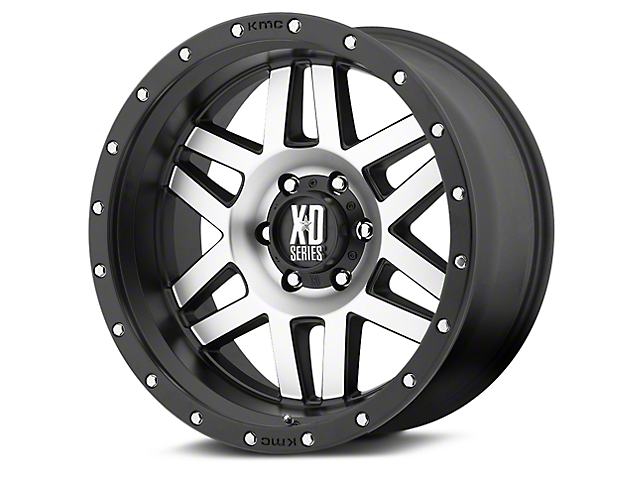 XD Machete Black Machined 6-Lug Wheel; 20x10; -24mm Offset (14-18 Sierra 1500)
