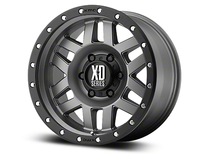 XD Machete Matte Gray w/ Black Ring 6-Lug Wheel - 20x9 (07-18 Sierra 1500)