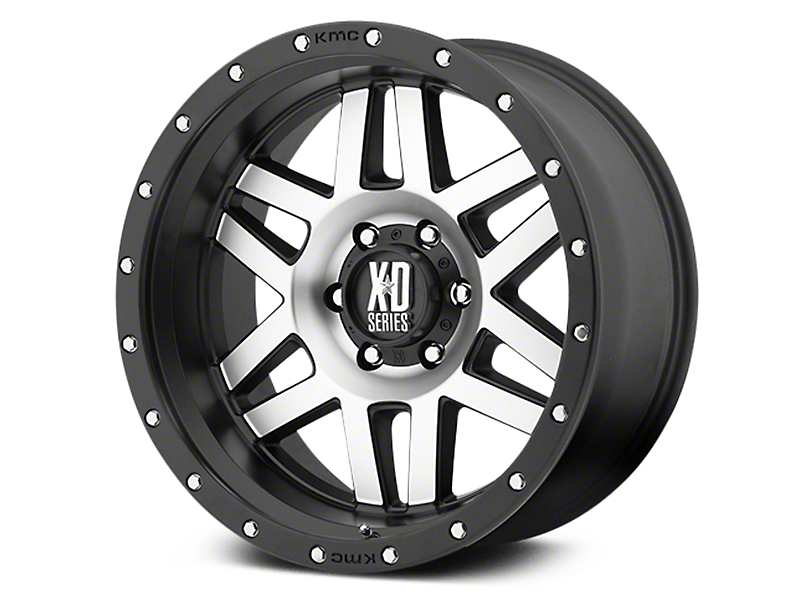XD Machete Black Machined 6-Lug Wheel - 20x9 (07-18 Sierra 1500)