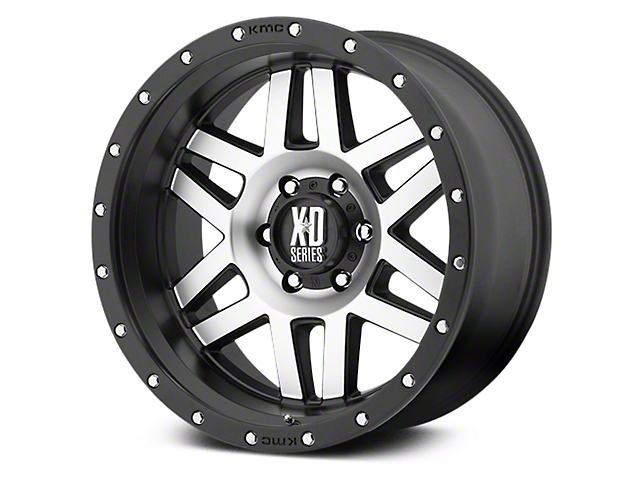 XD Machete Black Machined 6-Lug Wheel - 20x9 (07-19 Sierra 1500)