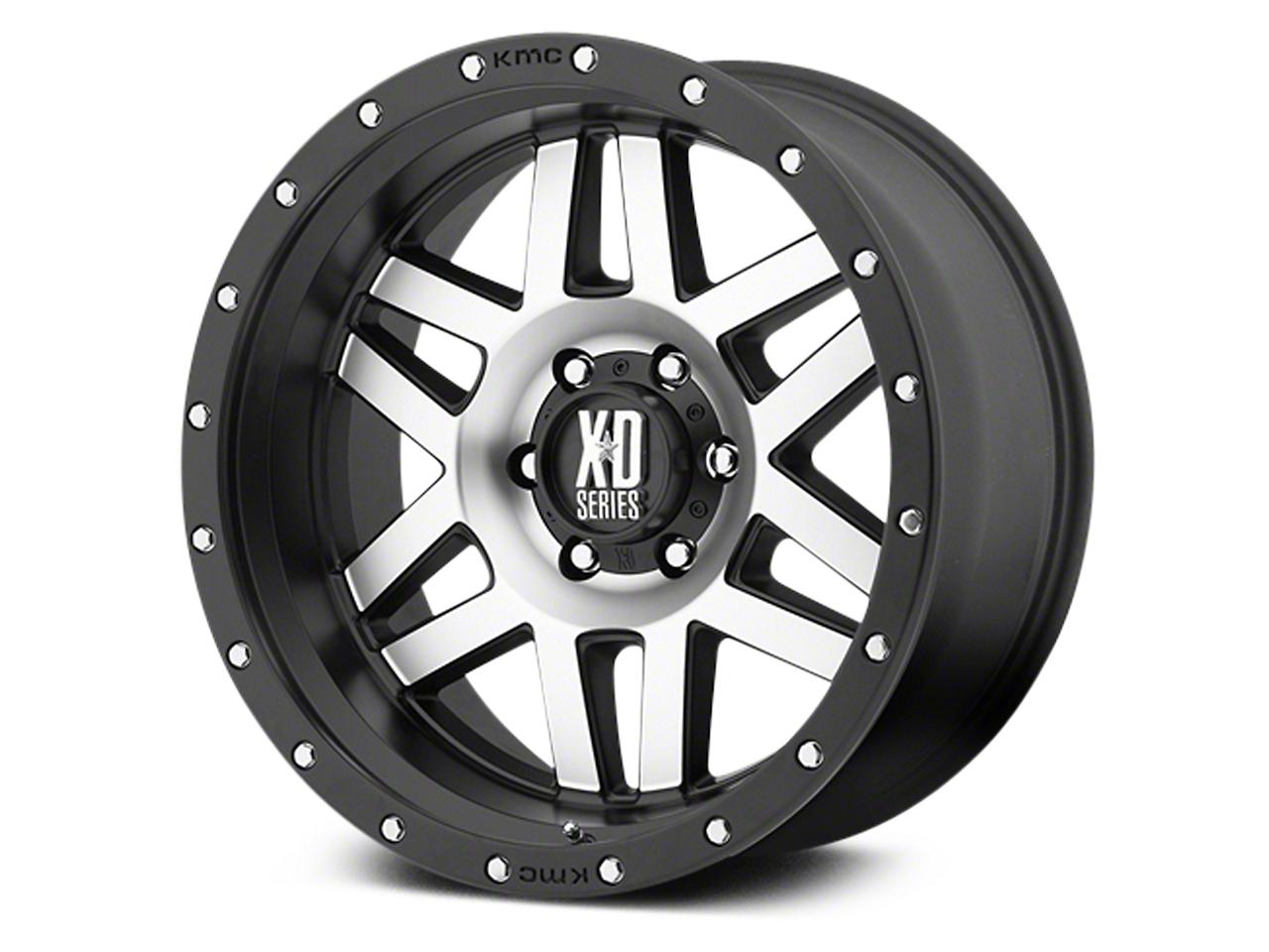 XD Machete Black Machined 6-Lug Wheel - 20x9 (07-18 Sierra 1500)