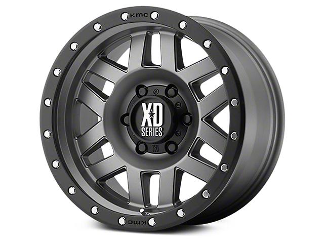 XD Machete Matte Gray w/ Black Ring 6-Lug Wheel - 17x9 (07-19 Sierra 1500)