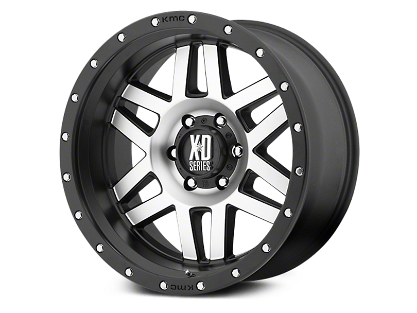 XD Machete Black Machined 6-Lug Wheel - 17x9 (07-18 Sierra 1500)