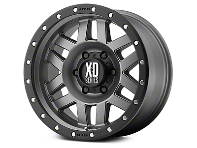 XD Machete Matte Gray w/ Black Ring 6-Lug Wheel - 18x9 (07-18 Sierra 1500)