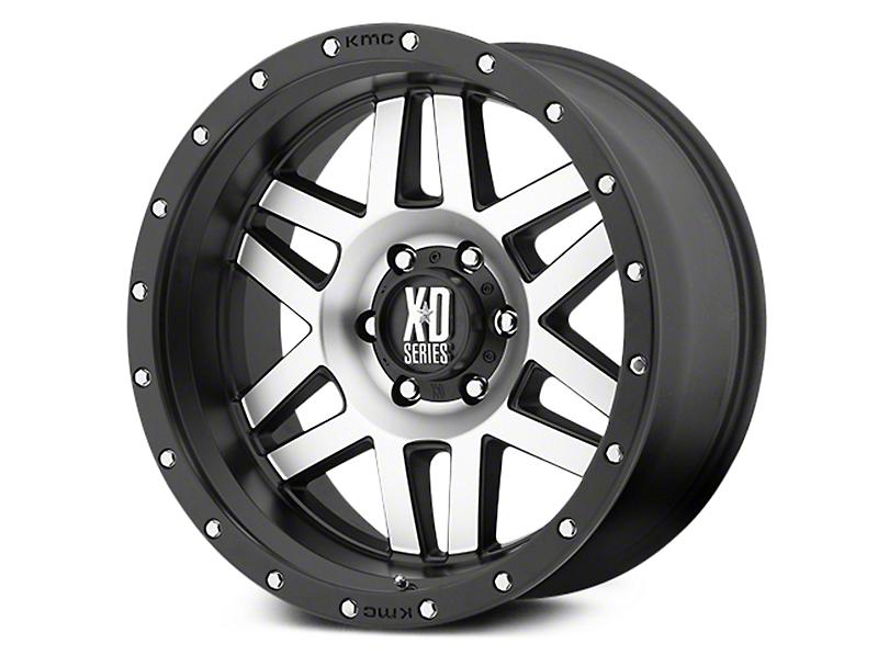 XD Machete Black Machined 6-Lug Wheel - 18x9 (07-19 Sierra 1500)