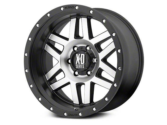 XD Machete Black Machined 6-Lug Wheel - 18x9 (07-18 Sierra 1500)