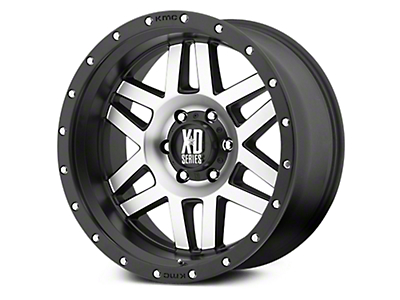 XD Machete Black Machined 6-Lug Wheel - 18x9 (07-18 Sierra 1500)