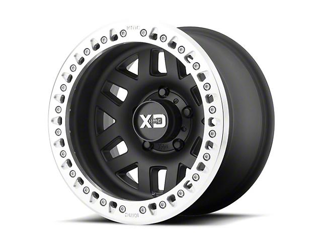 XD Machete Crawl Satin Black with Machined Ring 6-Lug Wheel; 17x9; -38mm Offset (14-18 Sierra 1500)