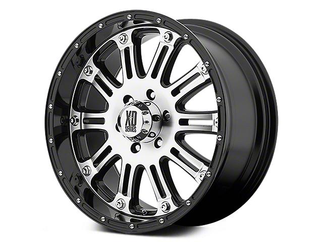 XD Hoss Gloss Black Machined 6-Lug Wheel - 22x9.5 (07-19 Sierra 1500)