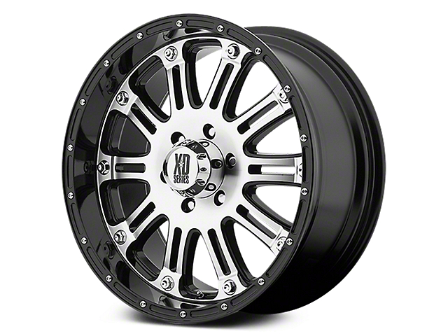 XD Hoss Gloss Black Machined 6-Lug Wheel - 20x9 (07-18 Sierra 1500)