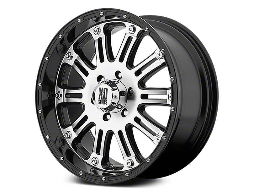 XD Hoss Gloss Black Machined 6-Lug Wheel - 17x9 (07-18 Sierra 1500)