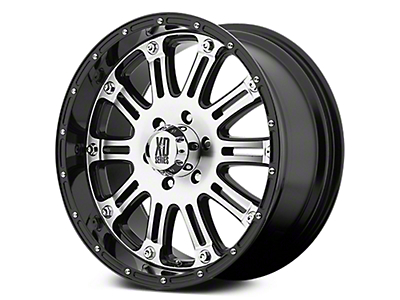 XD Hoss Gloss Black Machined 6-Lug Wheel - 17x9 (07-18 Sierra 1500)