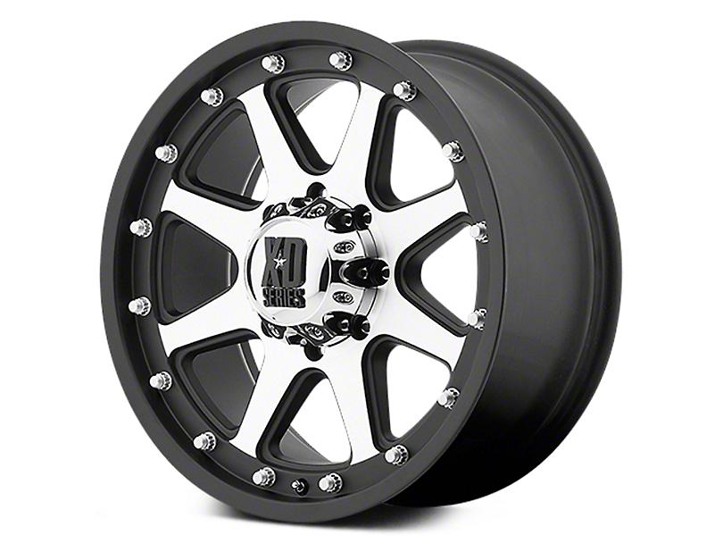 XD Addict Matte Black Machined 6-Lug Wheel - 17x9 (07-19 Sierra 1500)