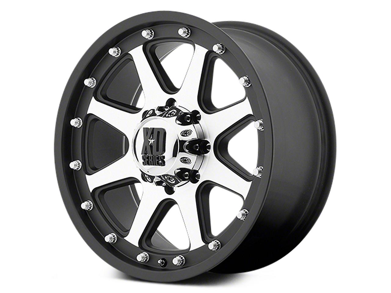 XD Addict Matte Black Machined 6-Lug Wheel - 17x9 (07-18 Sierra 1500)