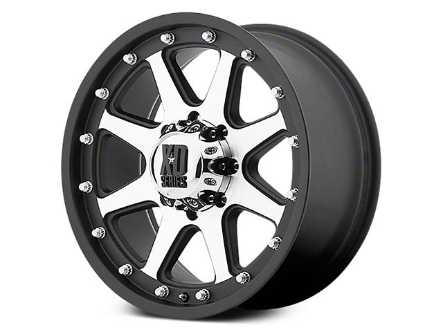 XD Addict Matte Black Machined 6-Lug Wheel - 18x9; -12mm Offset (07-19 Sierra 1500)
