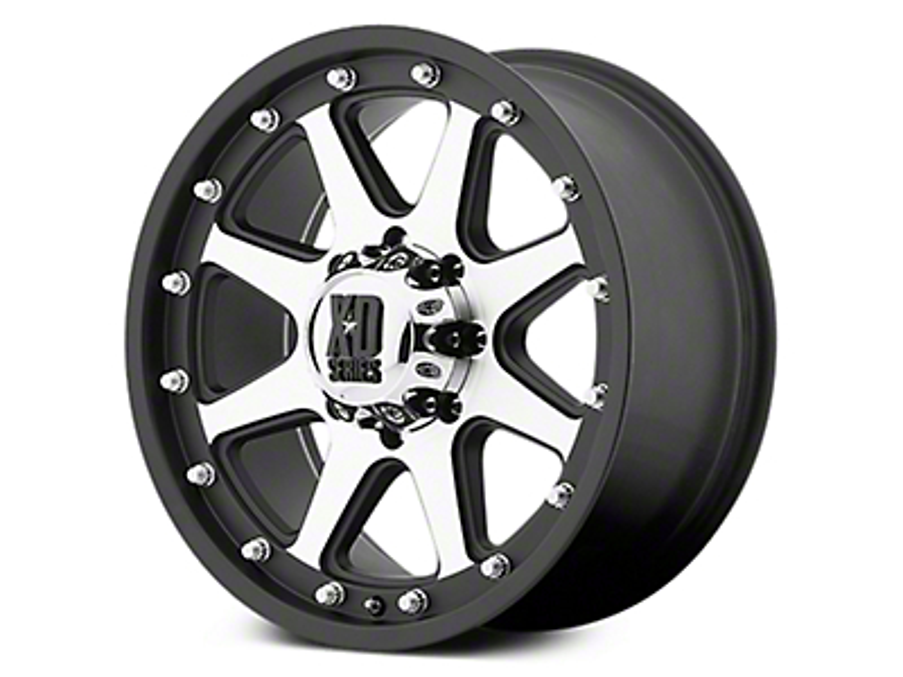 XD Addict Matte Black Machined 6-Lug Wheel - 18x9 -12mm Offset (07-18 Sierra 1500)
