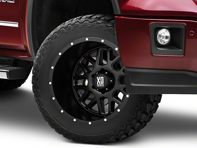 XD Grenade Satin Black 6-Lug Wheel; 20x12; -44mm Offset (14-18 Sierra 1500)