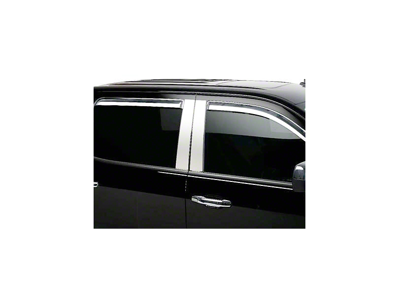 Putco Element Chrome Window Visors - Channel Mount - Fronts Only (14-18 Sierra 1500 Double Cab, Crew Cab)