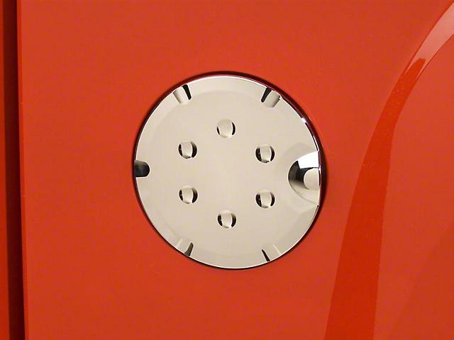 Fuel Tank Door Cover; Chrome (07-13 Sierra 1500)