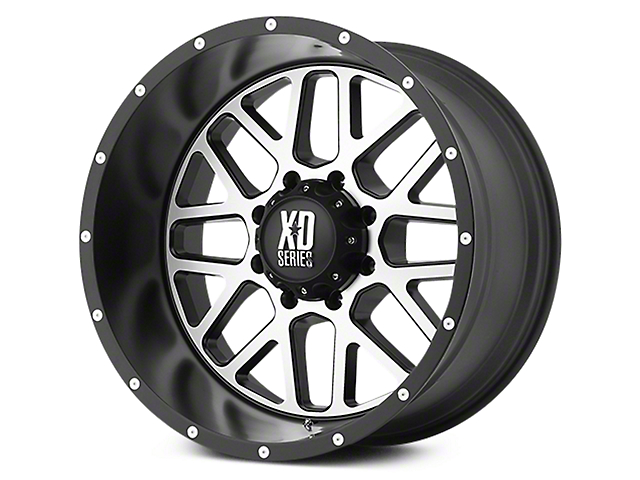 XD Grenade Satin Black Machined 6-Lug Wheel - 22x9.5 (07-19 Sierra 1500)