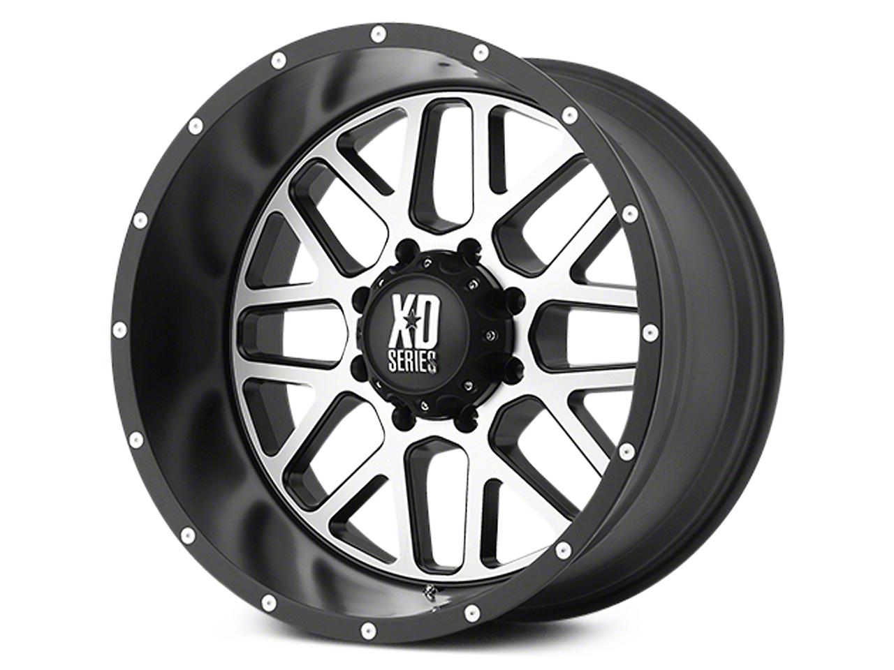 XD Grenade Satin Black Machined 6-Lug Wheel - 22x9.5 (07-18 Sierra 1500)