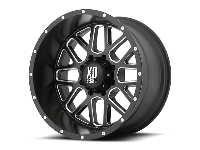 XD Grenade Satin Black Milled 6-Lug Wheel - 22x9.5 (07-18 Sierra 1500)