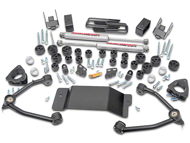 Rough Country 4.75 in. Suspension & Body Lift Kit (07-13 4WD Sierra 1500)