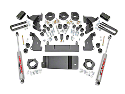 Rough Country 4.75 in. Suspension & Body Lift Kit (14-18 4WD Sierra 1500 w/ Stock Cast Control Arms)