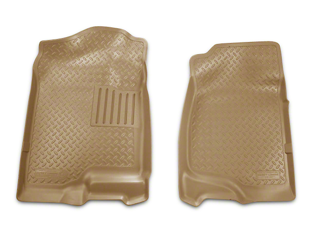 Husky Classic Front Floor Liners - Tan (07-13 Sierra 1500 Extended Cab, Crew Cab)