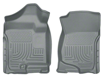 Husky WeatherBeater Front Floor Liners - Gray (07-13 Sierra 1500 Extended Cab, Crew Cab)