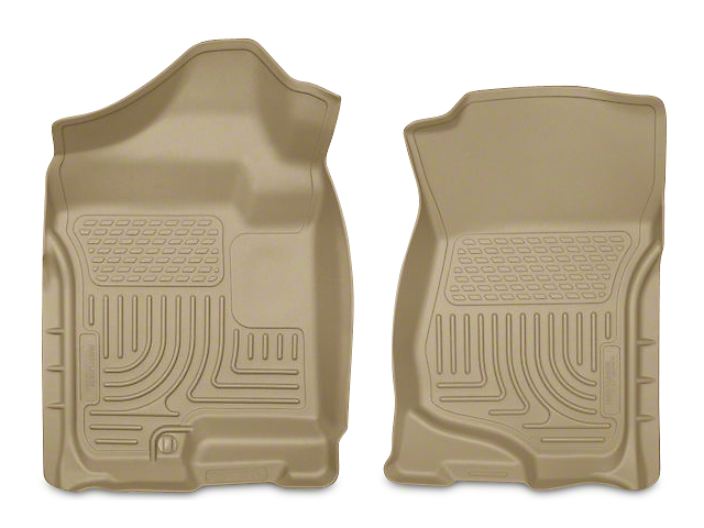 Husky WeatherBeater Front Floor Liners; Tan (07-13 Sierra 1500 Extended Cab, Crew Cab)