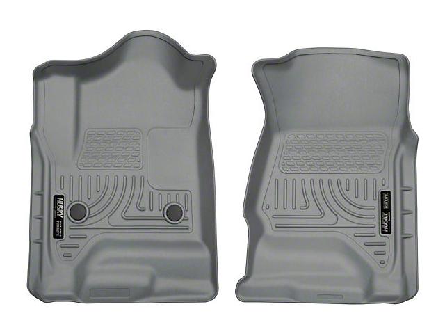 Husky WeatherBeater Front Floor Liners - Gray (14-18 Sierra 1500 Double Cab, Crew Cab)