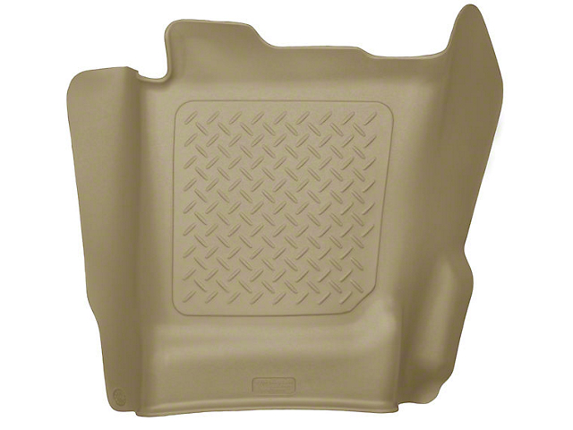 Husky WeatherBeater Center Hump Floor Liner; Tan (14-18 Sierra 1500 Double Cab, Crew Cab)