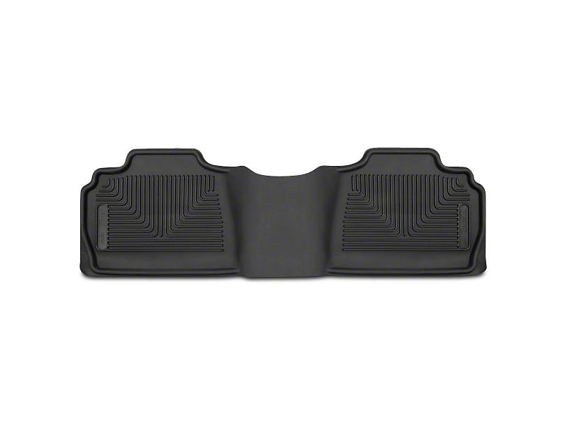 Husky X-Act Contour Second Seat Floor Liner; Black (07-13 Sierra 1500 Extended Cab, Crew Cab)
