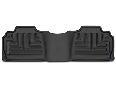 Husky X-Act Contour 2nd Seat Floor Liner - Black (07-13 Sierra 1500 Extended Cab, Crew Cab)