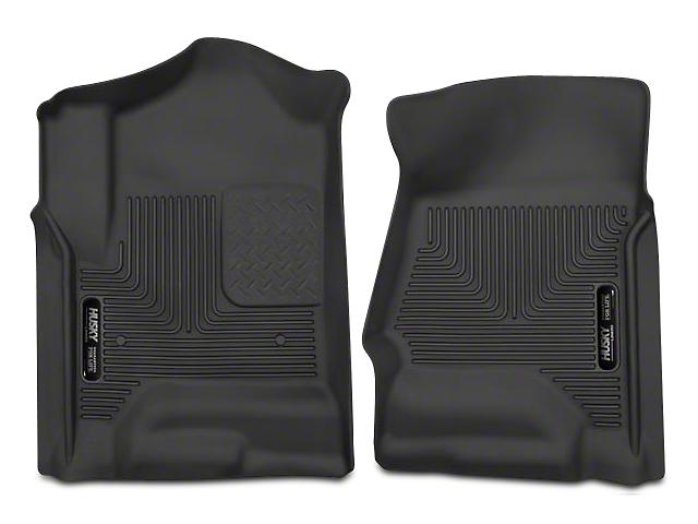 Husky X-Act Contour Front Floor Mats - Black (14-18 Sierra 1500 Double Cab, Crew Cab)