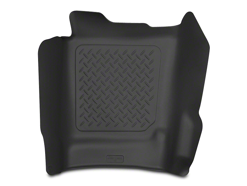 Husky X-Act Contour Center Hump Floor Liner - Black (14-18 Sierra 1500 Double Cab, Crew Cab)