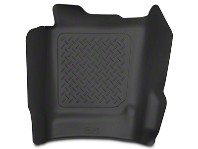 Husky X-Act Contour Center Hump Floor Liner - Black (14-18 Sierra 1500 Double Cab, Crew Cab)