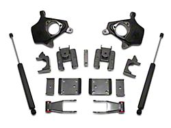 Max Trac Lowering Kit with Lowering Spindles; 2-Inch Front / 4-Inch Rear (07-13 2WD/4WD Sierra 1500)