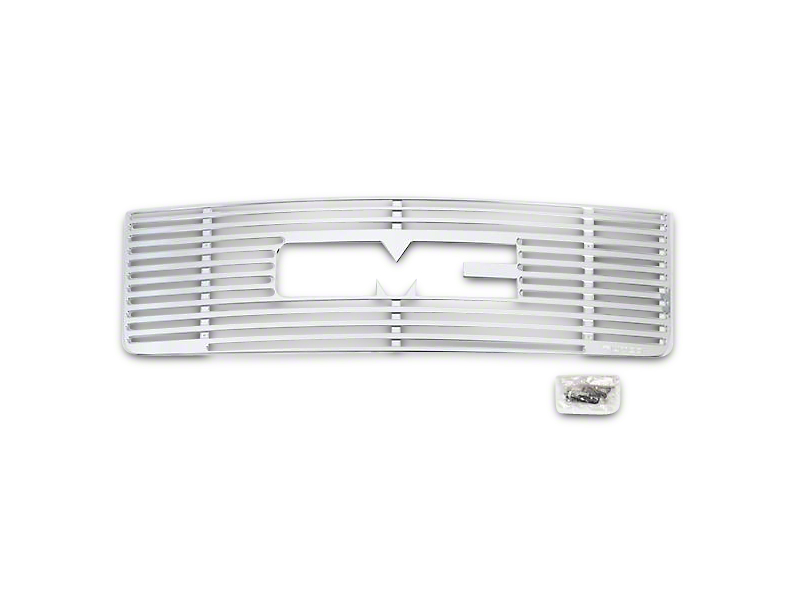 Putco Liquid Boss Upper Overlay Grille w/ Logo Cutout - Polished (07-13 Sierra 1500)