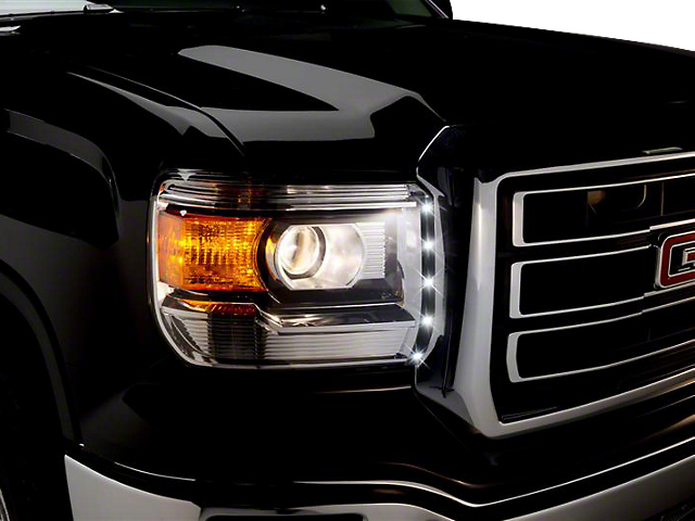 LED Dayliner G2 Kit; Black (14-18 Sierra 1500)