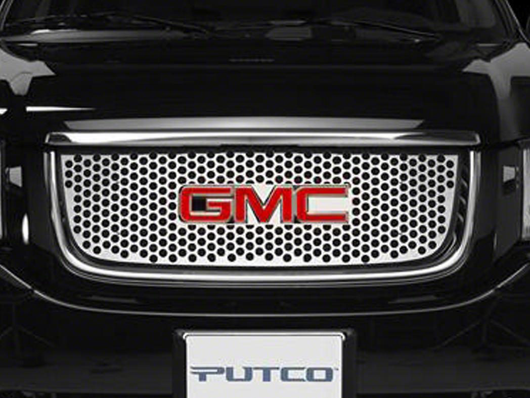 Putco Designer FX Punch Hole Upper Overlay Grille (07-13 Sierra 1500)
