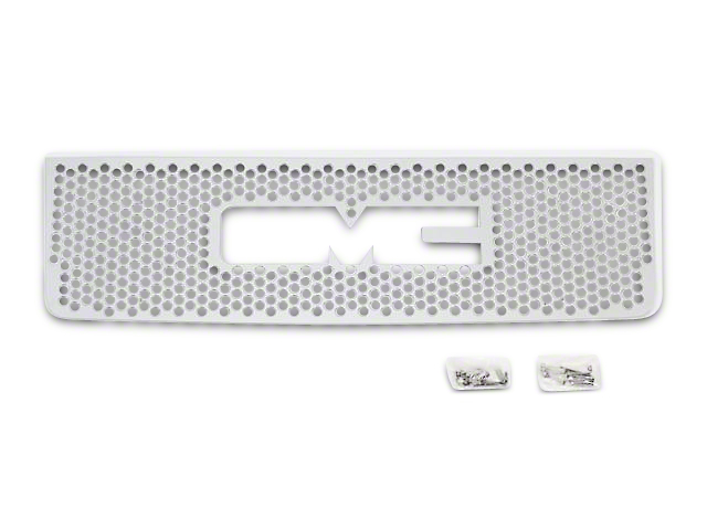 Punch Design Upper Overlay Grille with Logo Cutout; Polished (07-13 Sierra 1500)