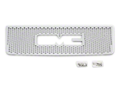 Putco Punch Stainless Steel Upper Overlay Grille w/ Logo Cutout - Polished (07-13 Sierra 1500)